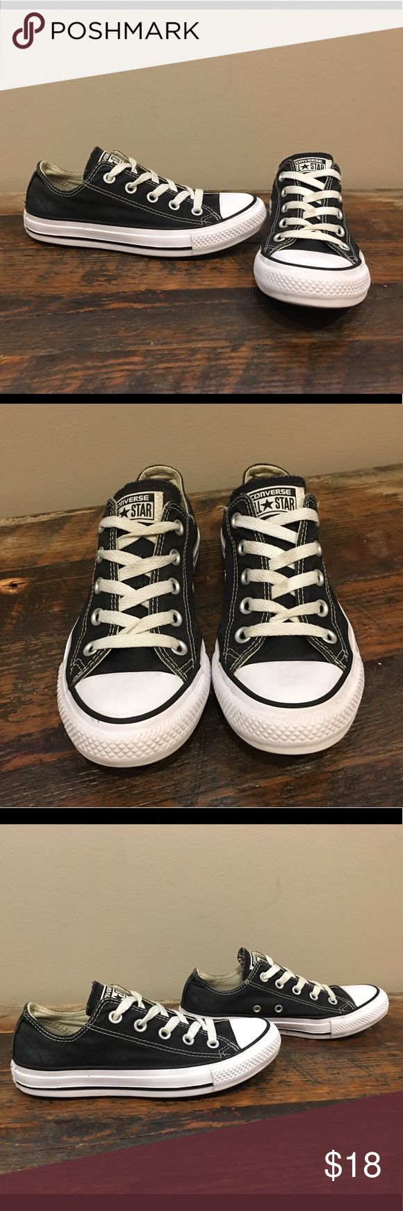Converse Black Chucks sz 3.5Y Great condition, just some minor fading/rubbing on the very back of the shoe. Still an awesome shoe for a kiddo! Youth size 3.5. Please check out my closet for more awesome kids items! Bundle for savings or make me a reasonable offer 😎 Converse Shoes