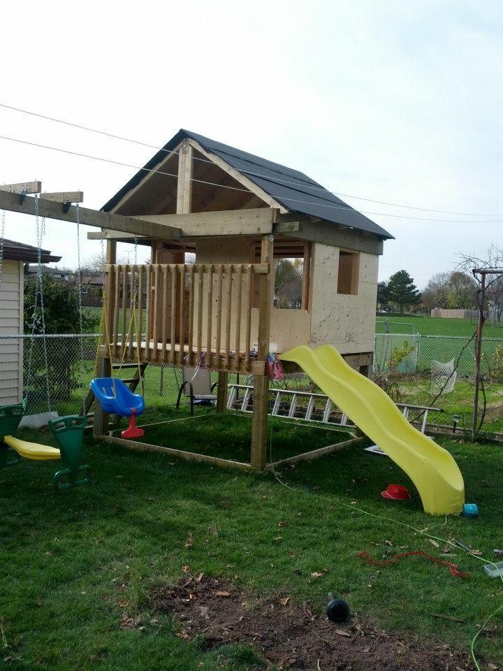 9 DIY Wooden Swing Set Plans for Your Backyard: Ana White's Free Swing Set Plan