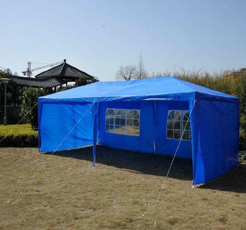 outsunny 10u0027 x 20u0027 gazebo canopy party tent w 4 removable side walls - 10x20 Pop Up Canopy