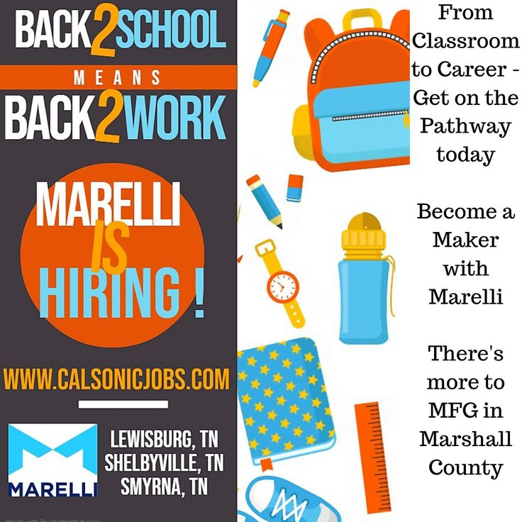 Back2School means Back2Work marelli marshallcotn
