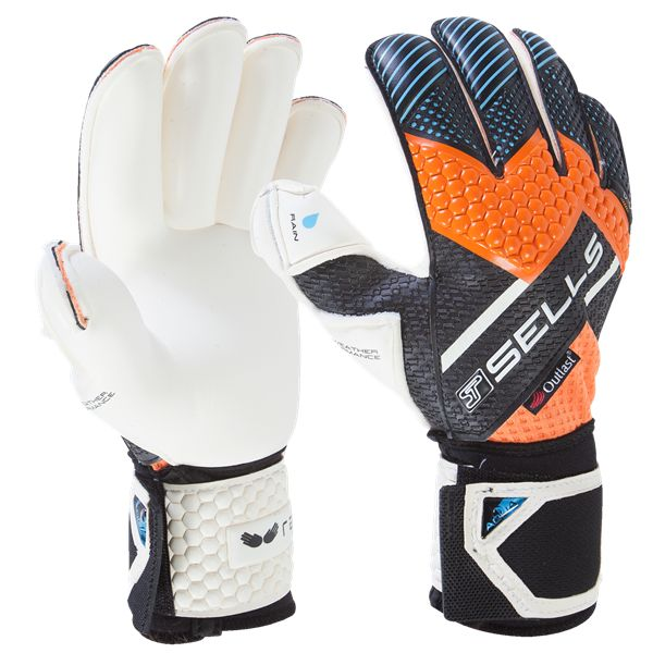 Sells Wrap Aqua Goalkeeper Glove -    Soccer Goalkeeper jerseys and equipment at WorldSoccerShop.com