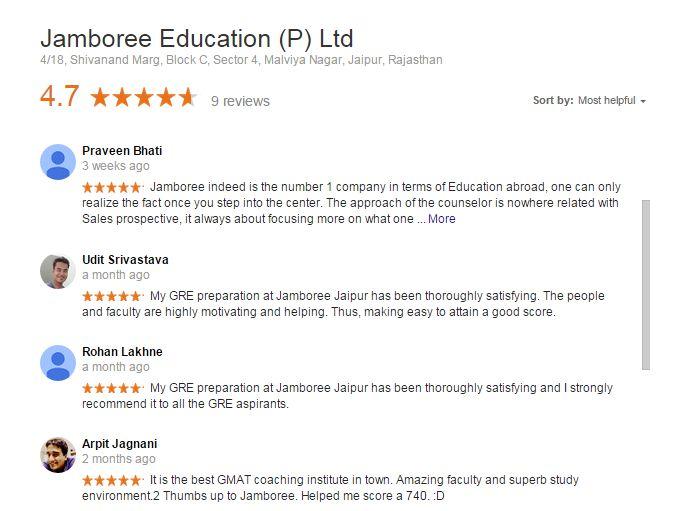 Jamboree Jaipur Reviews