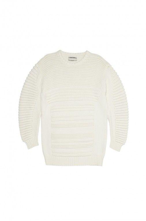 Public School Knit Sweater Dress in Ivory | The Dreslyn