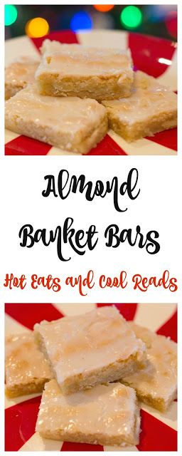 These bars are great for any potluck, snack or party! Full of delicious almond flavor and so easy to make! Almond Banket Bars Recipe from Hot Eats and Cool Reads (fudge brownies 9x13)