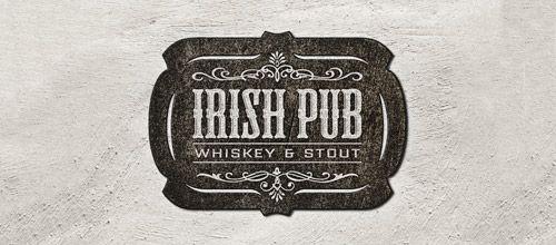 irish pub vintage logo
