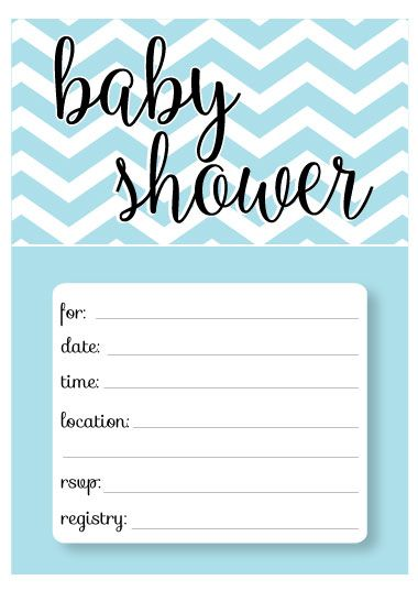 Diaper Baby Shower Invitations Template