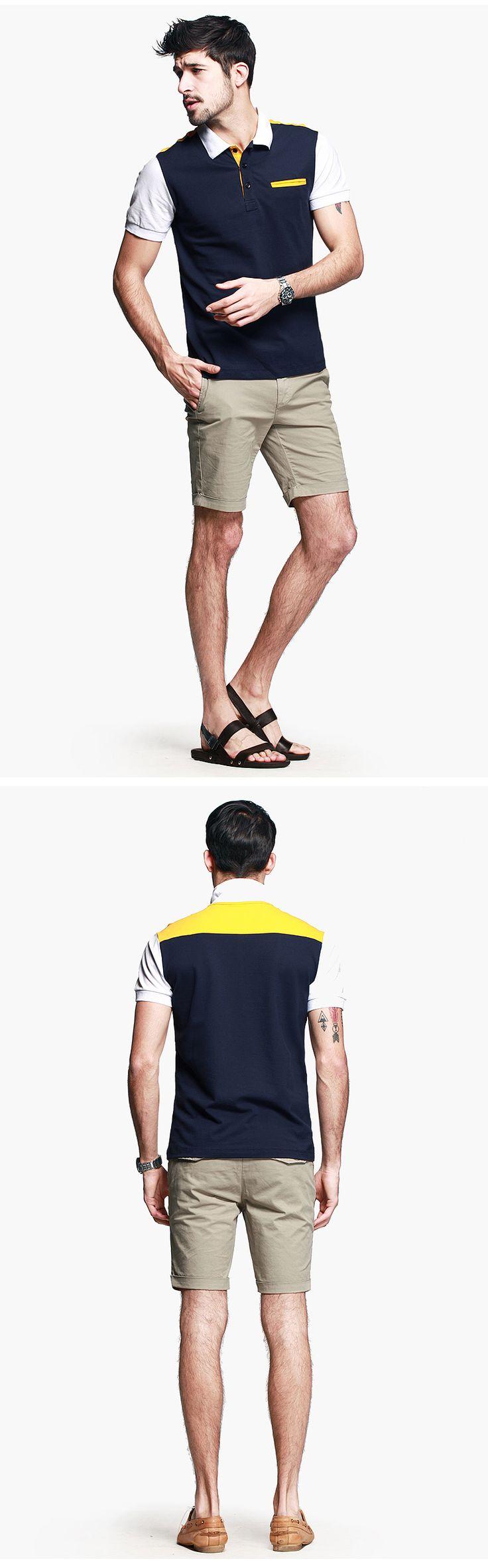 [Со скидкой] моды случайные хит цвет рубашки поло мужской с коротким рукавом с коротким рукавом рубашки мужские шить T-559-tmall.com Lynx