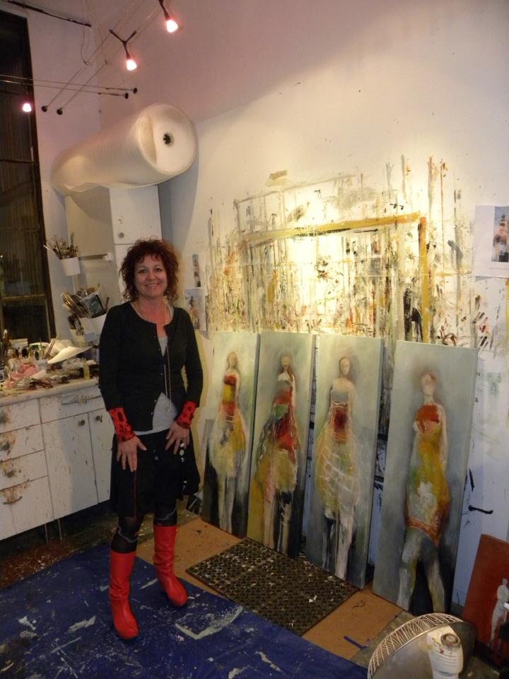 gotta love a messy studio...Brigitte McReynolds