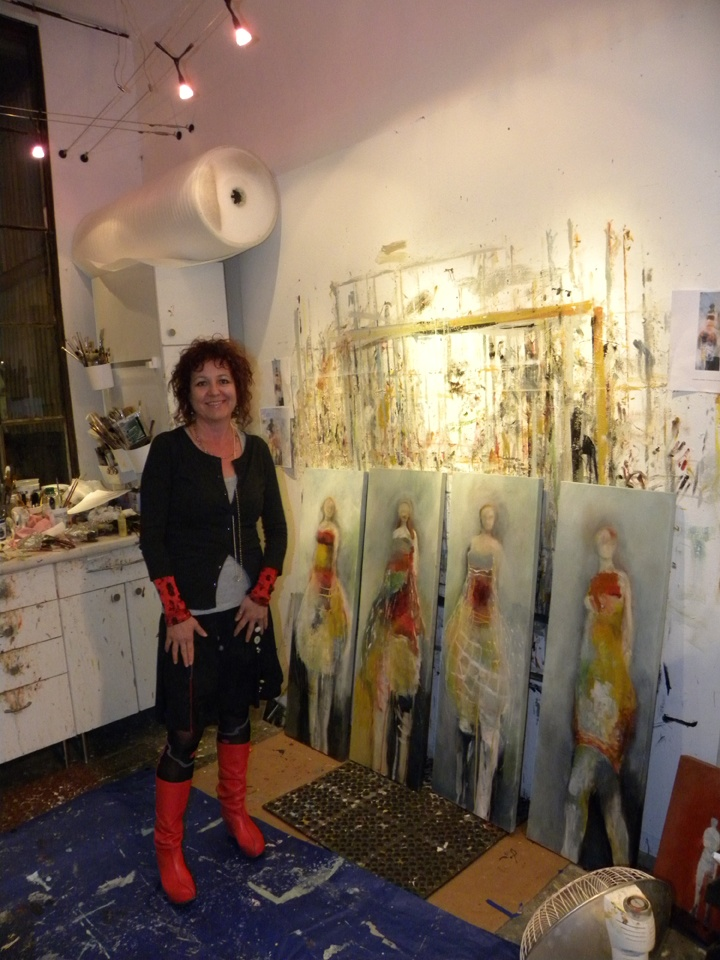 gotta love a messy studio...Brigitte McReynolds