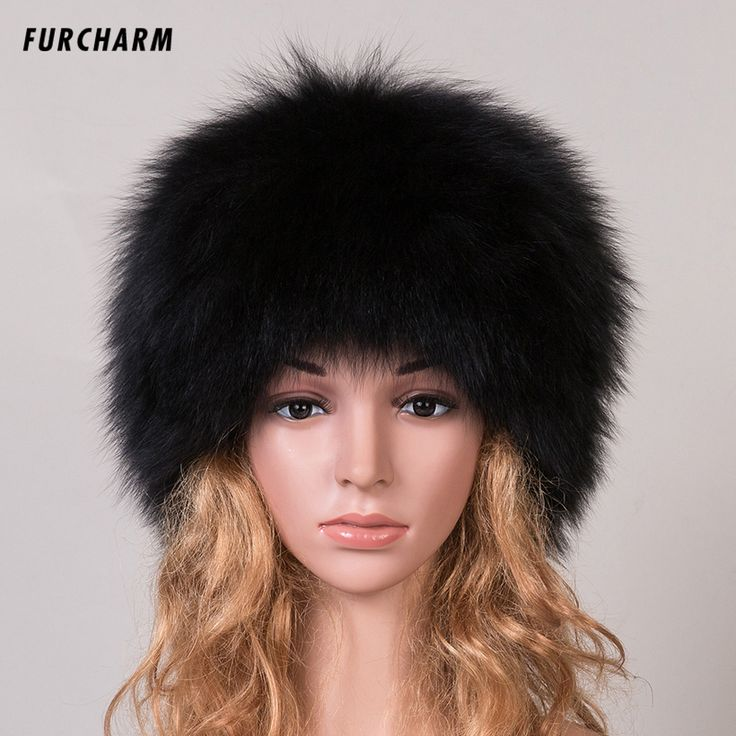 2016 New Women 's Genuine Fox Fur Beanies Russian Winter Fur Hat 100% Real Fox Fur Hat Casual Black / White Dome Mongolian Caps