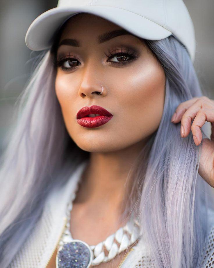 Eyes: @morphebrushes #MorpheBrushes 12S & 35U palette; @maccosmetics 'Amber Times Nine' palette // Lashes: @lillylashes 'Miami' // Cheeks & highlight: @zoevacosmetics Rose Golden blush palette // Lips: MAC Viva Glam 1 // Hair @freedomcouture ✨