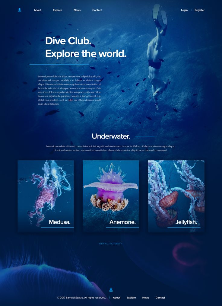 Web submarina ui hd   – Webdesign