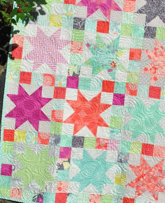 223 best Quilts: Sawtooth Stars images on Pinterest Star quilts, Patchwork quilting and ...