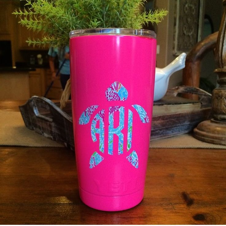 We are loving all these yeti cups! $10 #monogrammit #monograms #LillyPulitzer #letschacha #turtle #yeti