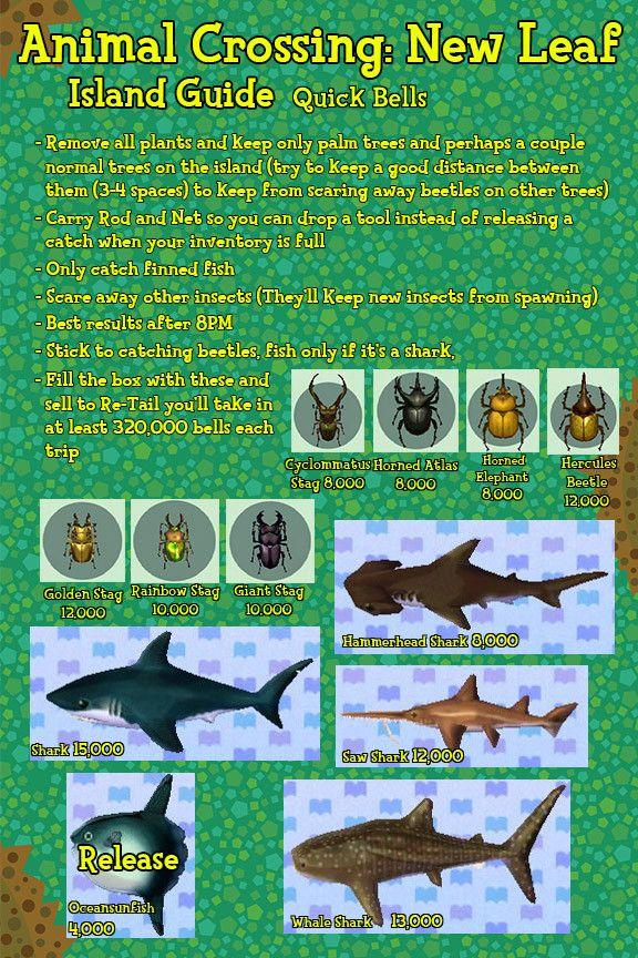 Island Bug Guide New Leaf