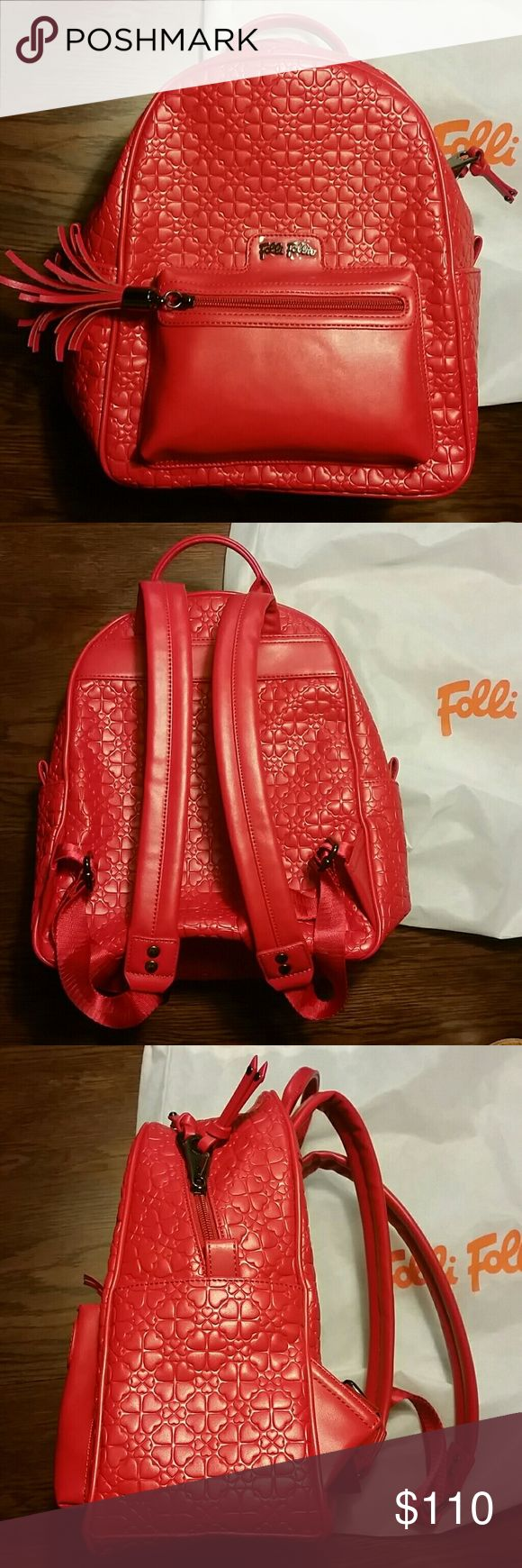Folli Follie Heart4Heart Sweetheart Backpack BRAND NEW Received as a gift and never used- stayed in dust bag. Comes with authencity certificate card and dust bag.  Make me an offer! folli follie Bags Backpacks