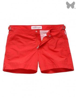 Orlebar Brown Men's Setter Shorts - Rescue Red #OrlebarBrown