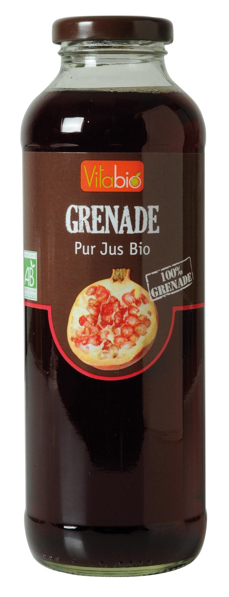 Jus de Grenade bio Vitabio  http://www.naturalia.fr/bio-boissons_jus-fruits_6_104.htm