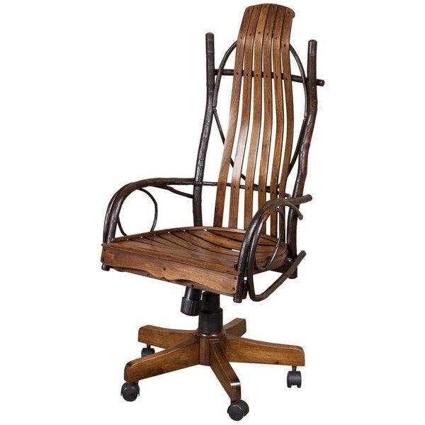 Amish Rustic Hickory Twig Desk Chair with Arms ($576) ❤ liked on Polyvore featuring home, furniture, chairs, office chairs, stick chair, hickory chair, pneumatic chair, blue chair and handcrafted furniture
