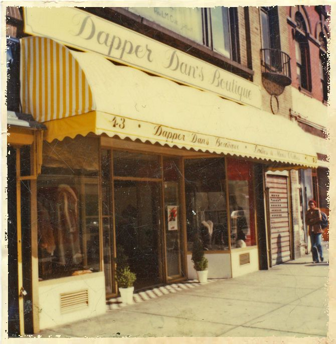 The Dapper Dan storefront in Harlem in 1984 - Gallery: Dapper Dan's Greatest…