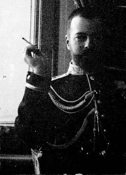 His imperial highness Tsar Nicholas II aboard the imperial train.
