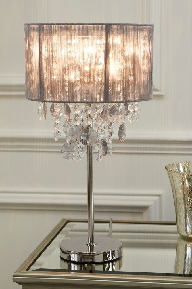 grey chandelier table lamp