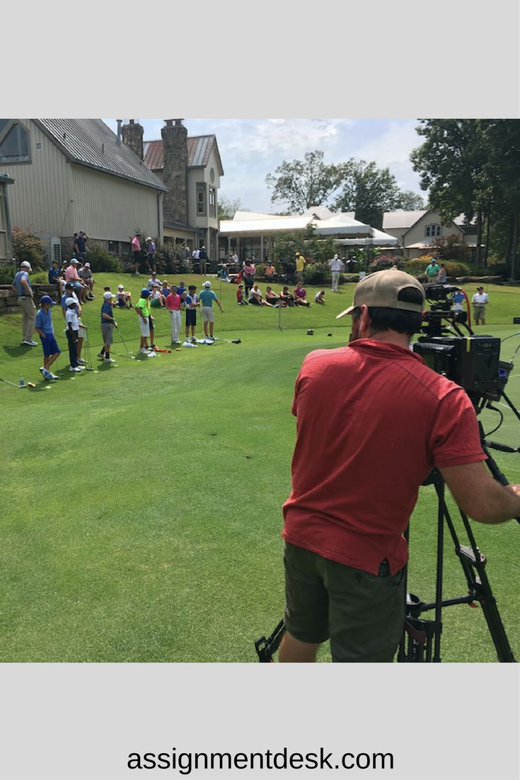 Camera Operator with the Golf Channel