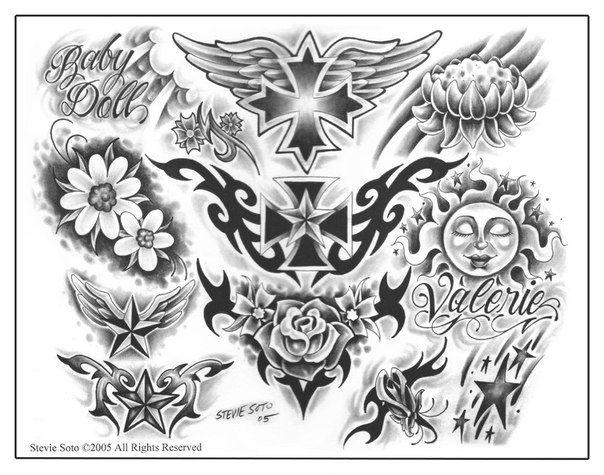 Steve Soto Tattoo Flash Flash Tattoo Flash Drawing Tribal Tattoos