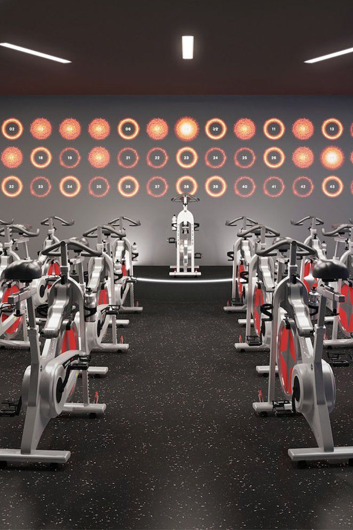 Gym Vs Boutique Studio Indoor Cycling Which Is Better Homegymvsfitnesscenter Fitness Design Gym Indoor Cycling Gym Interior
