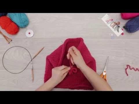 Tricoter avec des aiguilles circulaires (tuto) - Phildar