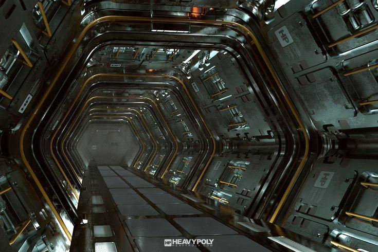 Sci Fi Corridor Tutorial, Vaughan Ling on ArtStation at https://www.artstation.com/artwork/sci-fi-corridor-tutorial