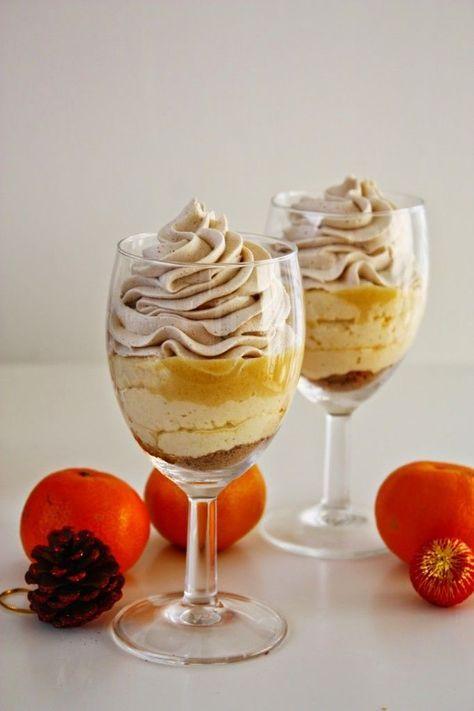 Eierlikör Mousse trifft auf Mandarinen Curd und Spekulatius Sahne! Eine festliches Weihnachts Dessert, welches sich gut vorbereiten lässt. #weihnachten, #weihnachtsdessert, #spekulatius, #mandarinen, #eierlikör #dessert