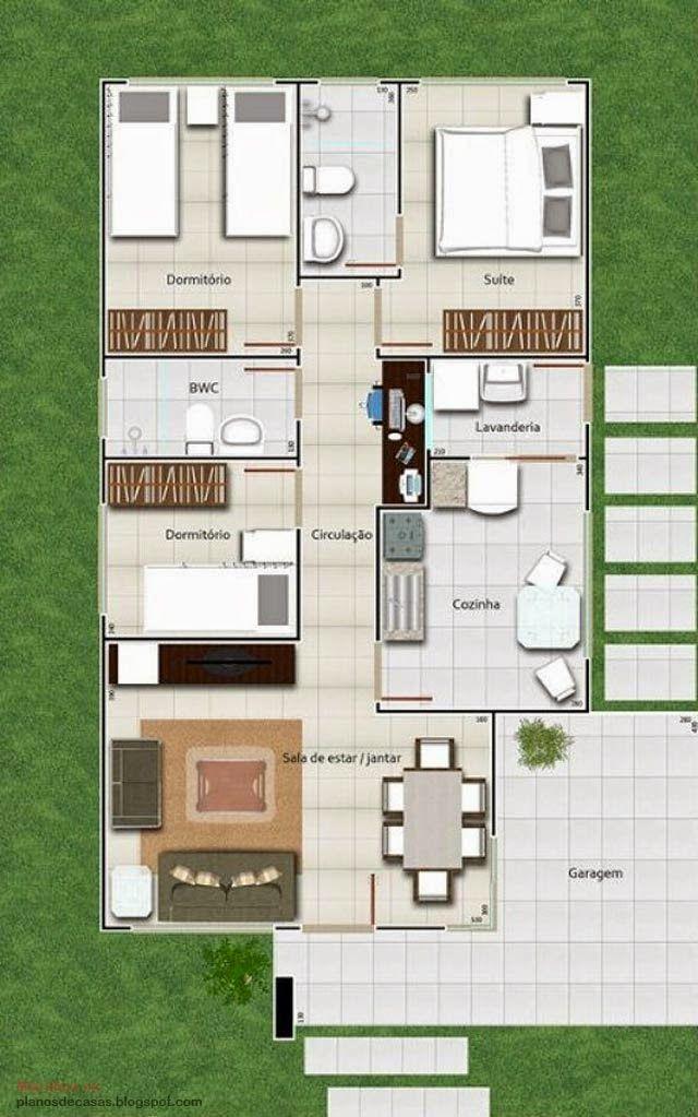 1666 best plano images on pinterest house floor plans for Casa moderna 1 piso