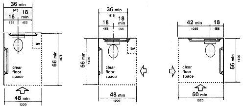ADA Toilet Clearances BDCS Are Exam Pinterest Toilet Room Restaurant A