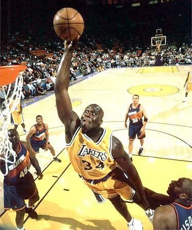Shaq as a LA Laker, while with the Lakers, he won three consecutive NBA Championships.