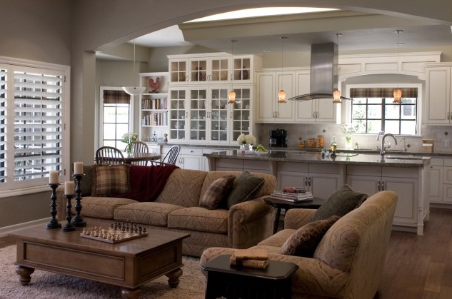 Pin by sarah logan on home sweet home pinterest - Open kitchen and living room ideas ...