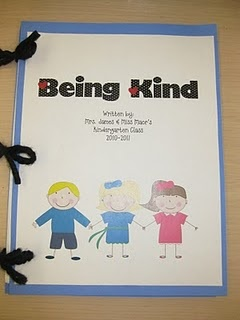 Classroom book about being kind- this is a good idea to make