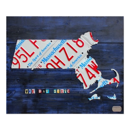 Massachusetts License Plate Map By Design Turnpike