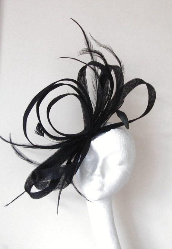 Black Kentucky Derby  Fascinator Hat