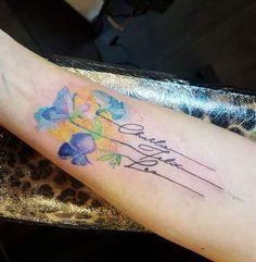 Children Tattoos For Moms Flowers 20+ New Ideas #flowers #children