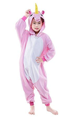 9bfd7ab36 Kinder Pyjamas Tier Einhorn Jumpsuit Nachtwäsche Unisex Cosplay ...