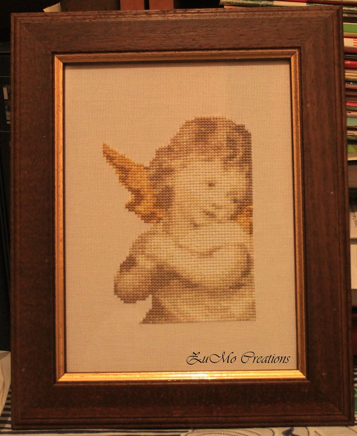 Angel poster   cross stitch poster
