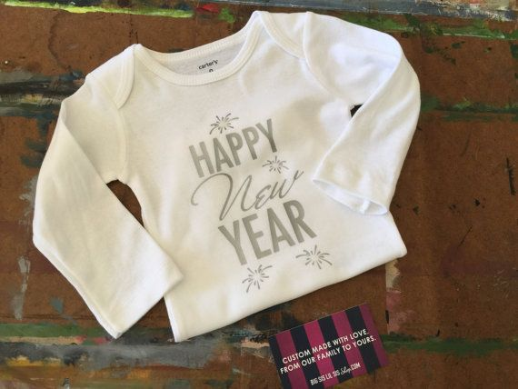 Happy New Year's Baby Onesie Happy New Year's by BigSisLilSisShop
