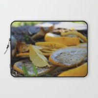 Fallen Citrus Laptop Sleeve Need an incredible new cover for your laptop? Explore natural and created images on Society6.