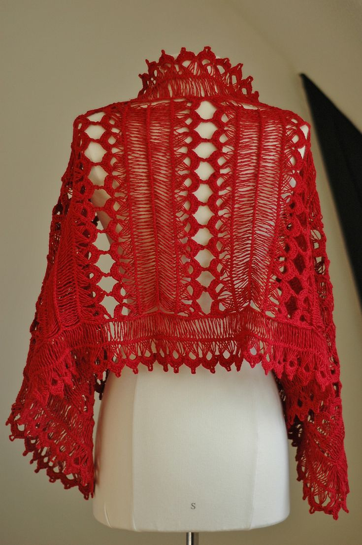17 Best Images About Crochet Hairpin Vest And Shawl On