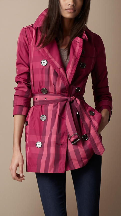 Yowza, pink plaid from Burberry!