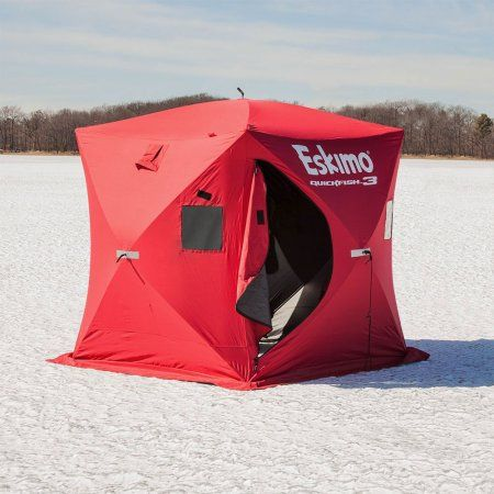 Eskimo 69143 Quickfish 3 Pop-up Portable Ice Shelter, 3 person