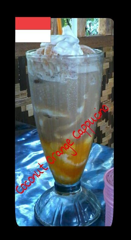 Coconut orange cappucino