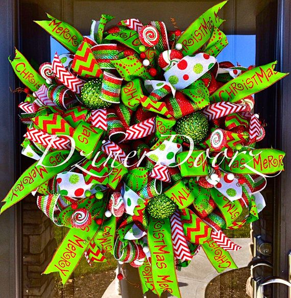 373 best christmas mesh wreaths images on pinterest christmas 30 whimsical peppermint candy christmas deco mesh wreath solutioingenieria Gallery