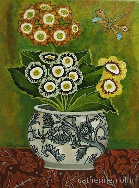"""Catherine Nolin - """"Still Life Auricula"""", 2011 - acrylics on canvas"""